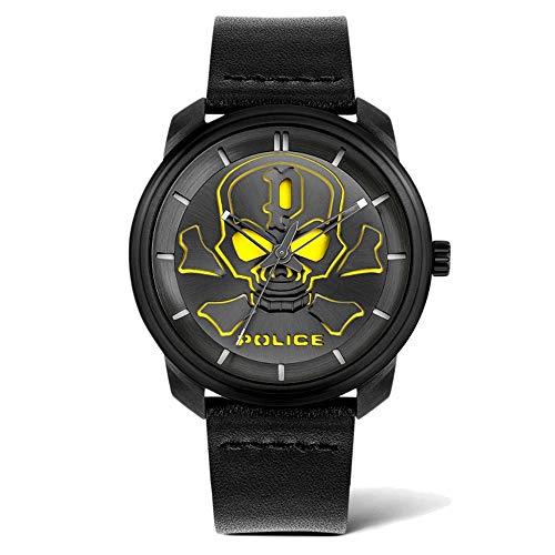 Police Reloj Analógico para Unisex Adultos de Cuarzo con Correa en Cuero PL15714JSB.02