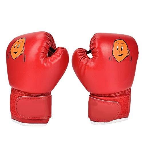 VGEBY1 Guantes de Boxeo para niños, Guantes de Boxeo para niños Guantes de Entrenamiento para Boxeo tailandés Taekwondo Sandbag Boxing Fighting(Rojo)