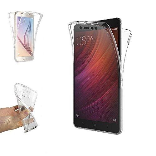 Funda Carcasa Gel Transparente Doble 360º para XIAOMI REDMI Note 5A Prime, Ultra Fina 0,33mm, Silicona TPU de Alta Resistencia y Flexibilidad