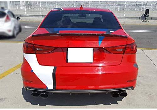 ZQADTU Alerón Trasero de Fibra de Carbono para Coche de Carreras, Techo Trasero, Maletero, alerón de Techo Trasero Adecuado para Audi A3 S3 Sline Rs3 Sedan 2013-2019