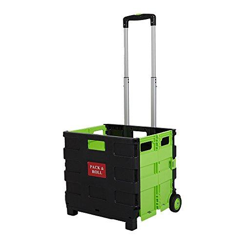 Livebest Multi-Function Folding Two-Wheeled Shopping Cart Portable Lightweight Hand Utility Cart Medium Size, Load Capacity 55 Pounds