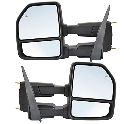 OCPTY Towing Mirrors Power Heated Left Driver Right Passenger Side Tow Mirrors Fit For 2003-2006 Chevy GMC Sierra Yukon XL Yukon Denali All Model with LED Turn Signal Clearance Light with Black