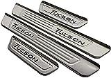 bksptop 4 piezas de acero inoxidable umbrales de la puerta del coche para Hyundai Tucson 2016 2017 2018 2019 2020 2021, umbral de la puerta placas protector car styling Accesorios