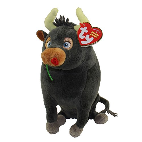 TY 6' Ferdinand The Bull Beanie Babies Plush Stuffed Animal With Ty Heart Tags (FREE GIFT with purchase)