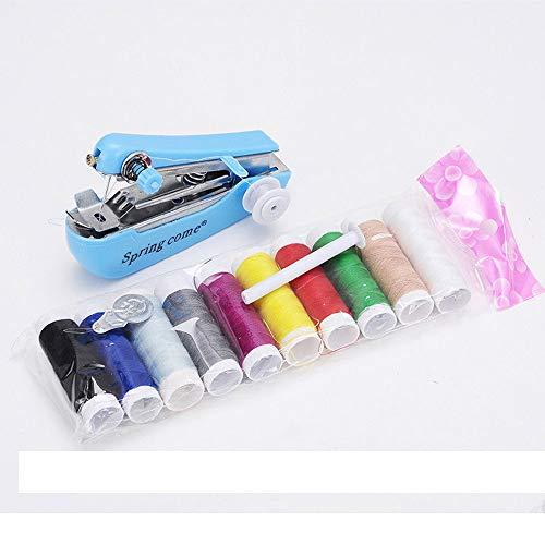 dagelijkse benodigdheden Draagbare mini naaimachine, kleine handmatige multifunctionele naaimachine voor huishoudelijk gebruik, voor stoffen, ambachten, familiereizen