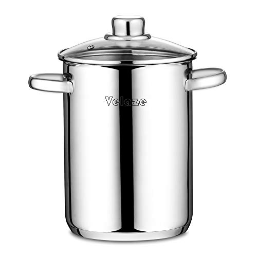 Velaze Asparagus Pot Stainless Steel Classic 4 L Vegetable Asparagus Steamer Pot with Basket and Lid...