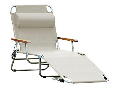 Jan Kurtz, amigo 40+ avec accoudoirs, taupe, chaise longue Fiam, design Francesco Favagrossa, bain de soleil, piscine,