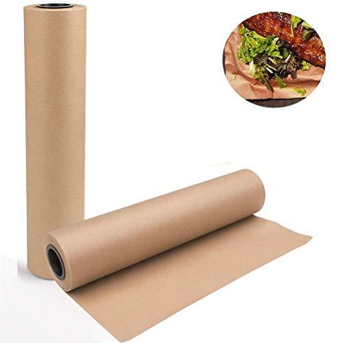 Butcher Kraft Paper Roll - Happyroom Rotolo Di Carta Kraft 73 cm x 30m BBQ smoking Paper Approvato dalla FDA food grade no candeggina cera senza rivestimento(1)