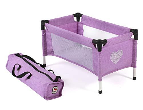 Bayer Chic 2000-Puppen-Reisebett für Baby-Puppen Cuna de Viaje para muñecas de bebé, Color Morado (652 35)