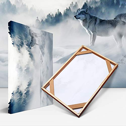 Agnes Bruce Photo Frames Natural Wood Frame For Canvas Oil Painting Poster DIY Wooden Picture Frames Wall Photo Frame Small Big Large Size Home Decor (Color : 2pc frame form 65cm, Size : Height 35cm)