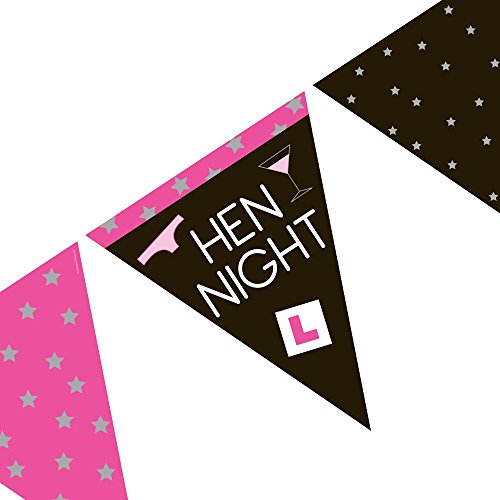 Partyrama Fanions en papier Hen Night – 3,7 m