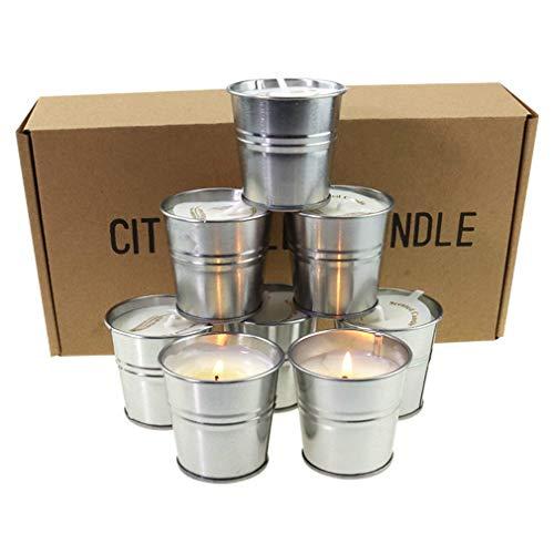 Stafeny - Velas de citronella, velas de incienso de cera de soja, repelente de mosquitos y velas de incienso, caja de regalo de 8 piezas, para interior y exterior, etc.