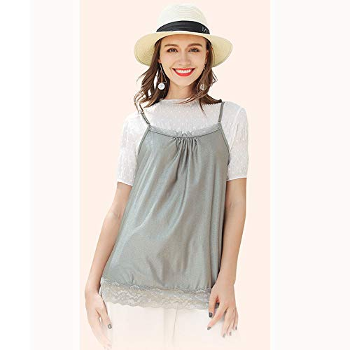 HFXZ2018 Schwangerschafts-Anti-Strahlung Kleidung, Strahlenschutzweste mit Spitze-Rand, justierbare Lace Up Schwangerschaft Unterwäsche für Strahlen reduzieren,XXXL
