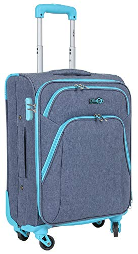 CABIN GO 5615 Valigia Trolley Morbido, bagaglio a mano 55x40x20 con 4 ruote e Chiusura TSA, grande valigia Ideale a bordo di Ryanair, Alitalia, Air Italy, easyJet, Lufthansa