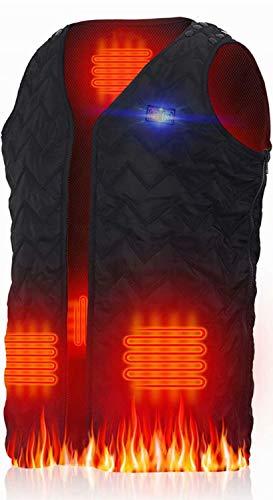 電熱ベスト サイズ調整可能 前後独立温度設定可能 7枚ヒーター 電熱ジャケット 電熱ウェア ヒーターベスト 防寒保温 秋冬用 USB加熱 3段温度調整 洗濯可 臭くない 屋外作業 バイク 釣り 登山 スキー スケート 男女兼用 SからXXLまで対応 日本語の説明書付き