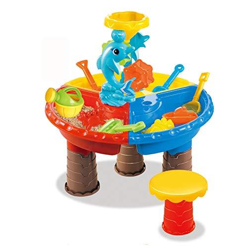 Mesa De Agua Juguetes de playa Juguetes de arena Sistema de arena Mesa de arena Moldes de arena Kit de herramientas de playa Juguetes para niños pequeños Juguetes de arena Juguete de mesa sensorial pa