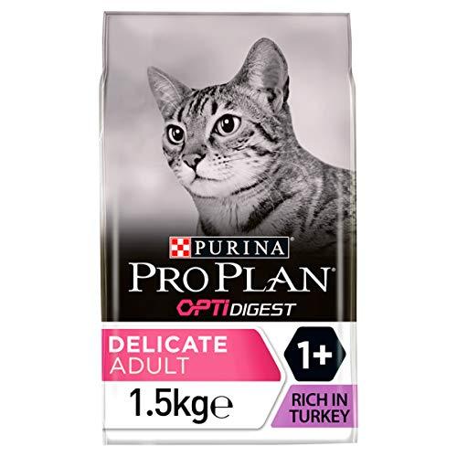 Pro Plan Nourriture sèche pour Chat Adulte Dinde 1,5 kg – Boîte de 6 (9 kg)