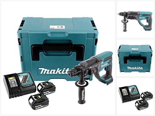 Makita DHR 202 RTJ 18 V Akku Kombihammer SDS-Plus im Makpac mit 2x 5,0 Ah Akku und Ladegerät