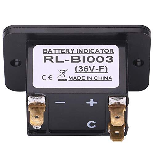 Medidor de batería de plástico con gráfico de barras LED de 10 segmentos, indicador de batería, para advertencia de carga baja para carrito de golf(BI003-36V)