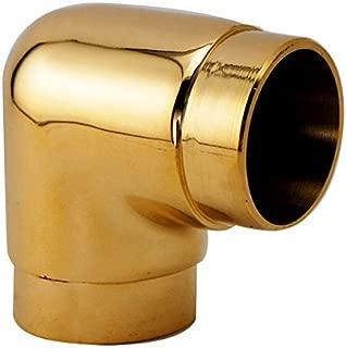 KegWorks 90˚ Degree Flush Elbow Fitting - Polished Brass - For 2