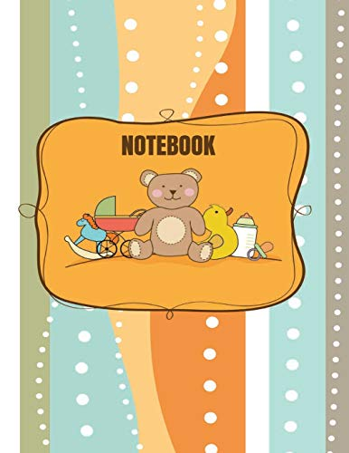 Notebook: teddy cover (8.5 x 11) inches 110 pages, Blank Unlined Paper for Sketching, Drawing , Whiting , Journaling & Doodling (Teddy notebook,, Band 33)