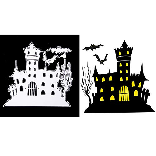 2019 Newest Halloween Metal Die Cutting Dies Handmade Stencils Template Embossing for Card Scrapbooking Craft Paper Decor by E-Scenery (Halloween Castle)