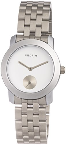 Pilgrim Damen Analog Quarz Uhr mit Edelstahl Armband 701616020
