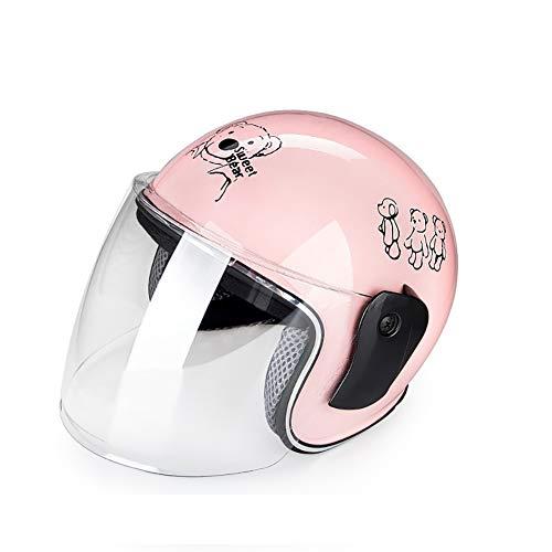 LGPNB Helm Vier Jahreszeiten Kinderhelme Elektroauto Schutzausrüstung Nette Sonnencreme Sommerhalbhelm, geeignet für Kinder im Alter von 2-6 (46cm-52cm).-1