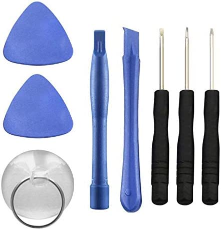 Color : White Mobile Phone Repair Tools 8pcs//Set Mobile Phone Repair Tools Screwdriver Kit Cellphone Screen Opening Crowbar Triangle Pry Open Plastic Tool