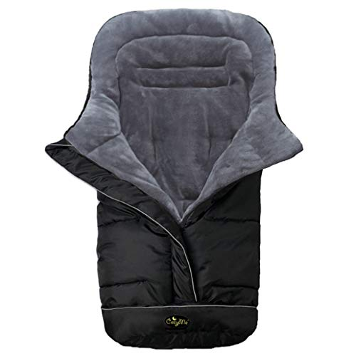 Universal Baby Footmuff Fits Most Stroller Pram-Water/Wind/Snow/Dirt Proof, Outdoor Walking Winter Warm Bunting Bag,5Ways Zippers-Central&Bottom Opens for Multi-Use,6-36M