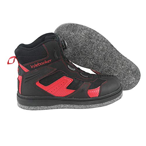 Männer Watschuhe Rock Angeln Waten Schuhe Wasserdicht Anti-Rutsch- Filz Spike Sohle Stiefel
