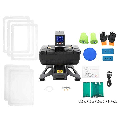 Professional 110V All in 1 Auto Open Pneumatic T Shirt Heat Press Machine 3D Sublimation Vacuum Heat Transfer Machine for Phone Cases,Plate Bottles, Mugs