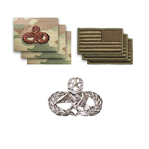 US Air Force Maintenance Master with OCP Spice Brown Reverse Flag Bundle