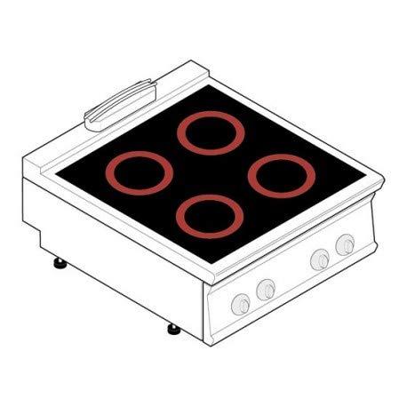 Réchaud vitrocéramique - 4 plaques - gamme 900 - Tecnoinox