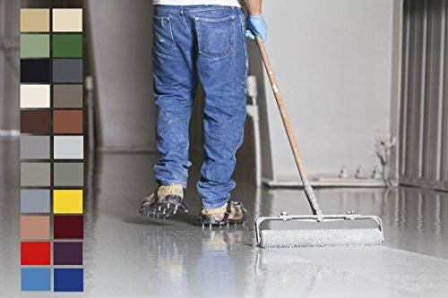 20KG 2K Epoxidharz Bodenfarbe seidenglänzend in RAL7036 Platingrau Bodenbeschichtung Bodenversiegelung Betonfarbe Garagenbodenbeschichtung Fußbodenfarbe