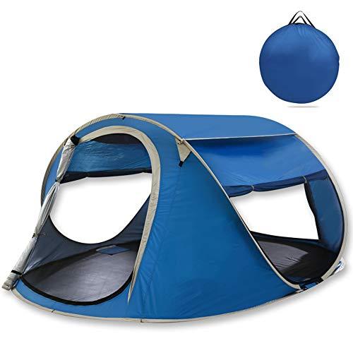 Faus Koco Azul Al Aire Libre 3-4 Personas Tienda de campaña automática Camping Playa Salvaje Maderas Picnic Super Ligero Pesca Fina Pesca Ultra Ligera Panorámica Techo Solar