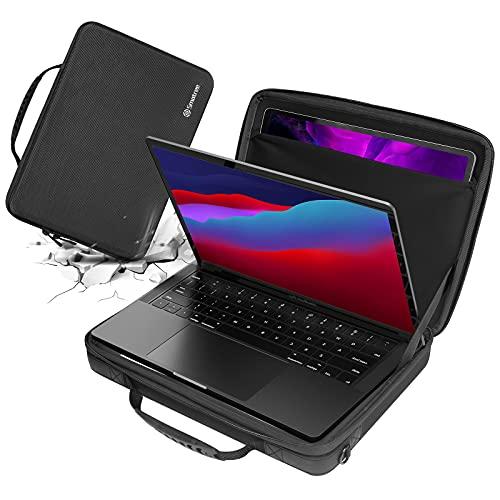 Smatree Hartschalen-Laptop-Umhängetasche kompatibel mit 13-13,3 Zoll MacBook Air/Macbok Pro 2020/12,9 Zoll Apple iPad, Macbook Pro 13 Zoll Tragetasche, Macbook Air 13 Zoll 2020 Schultertasche