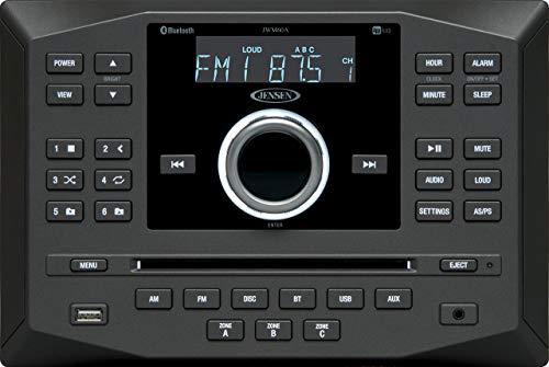 Jensen JWM60A AM|FM|DVD|CD|USB|AUX|App Ready Bluetooth Wallmount Stereo with App Control, Plays: CD,...