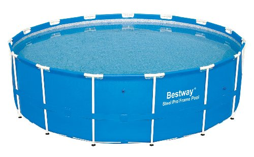 Bestway 12752E Steel Pro Above Ground 15ft x 48in Backyard Frame Pool Set | for Kids & Adults, 15-Feet by 48-inch