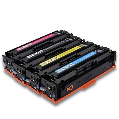 Cartuchos de tóner HP CF400A, con chip fácil de añadir tóner, compatible con impresoras láser HP M277n 201A M252dw, color 4pcs size