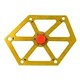 LUYIPINGQIWND Regla de ángulo de carpintería Regla aleación de Aluminio hexágono inclinómetro Regla Mesa Hoja Hoja inclinación ángulo medidor de medición con magnético (Color : Silver)