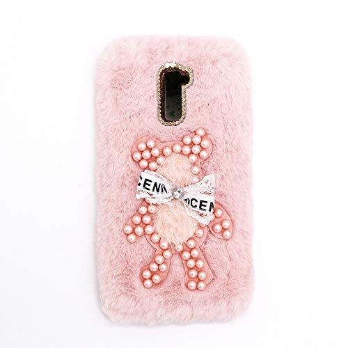 YHY Funda Teléfono Pearl Bear Plush para Lenovo K8 Note Carcasa De Felpa De Silicona Suave y Elegante La Piel Rosado