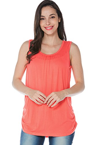 Product Image of the Smallshow Women s Maternity Nursing Tank Top Sleeveless Comfy Breastfeeding...