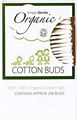 Simply gentle organic cotton buds gently clean and dry in between baby's fingers, toes and around the eyes, nose or outer ears They can also be used to apply cream to blemishes Produced on bio-degradable paper stems with 100 percent organic cotton ti...