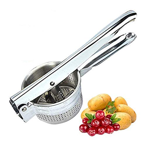 Stainless Steel Manual Fruits and Vegetables Masher, Heavy Duty Potato Mashers Ricers