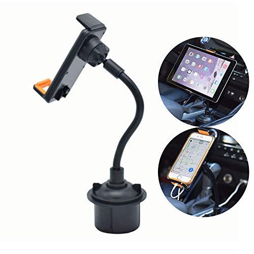 CHAMPLED - Supporto da auto per tablet e smartphone, 2 in 1, con braccio lungo e collo flessibile e regolabile, adatto per Audi Q5 Vent A3 A4 Q7 Carbon TT MK1 RS3 R8 S3 S6 Quattro SQ5 RS7 TTS