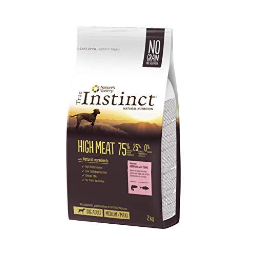 True Instinct High Meat - Pienso con Salmón para Perros Medium Adult, 2 kg