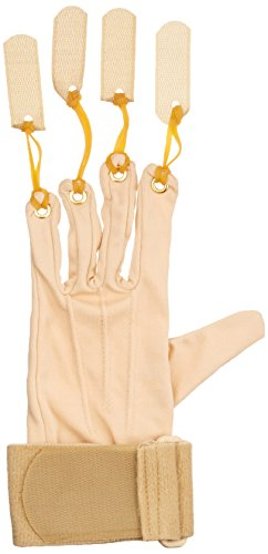 Sammons Preston Deluxe Traction Glove, Left Handed Exercise Glove, Rehabilitation & Physical Therapy Gloves for Flexion of Joints & Fingers, Hand Exerciser for Increasing Strength, Small/Medium