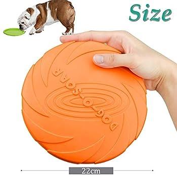 WELLXUNK Disque Chien, Frisbees pour Chien, 2 Pcs Frisbee Jouet Chien, pour Jeux Sport Exercice Activité et Jeu en Plein, pour Petits Et Moyens Chiens (L)