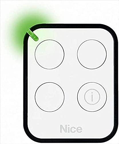 Nice SPA Télécommande Nice ERA ONE 3 canaux 433,92 MHz bidirectionnelle code : ON3EBD, blanc